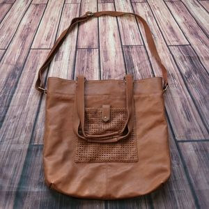 American Eagle Outfitters Brown Leather Hobo/Tote
